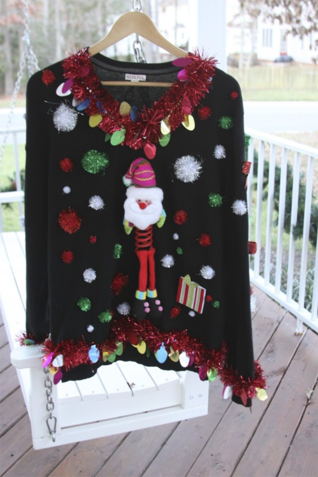 wholesale dealer 6275e ead99 15 Do It Yourself Ugly Christmas Sweaters - Oh My Creative