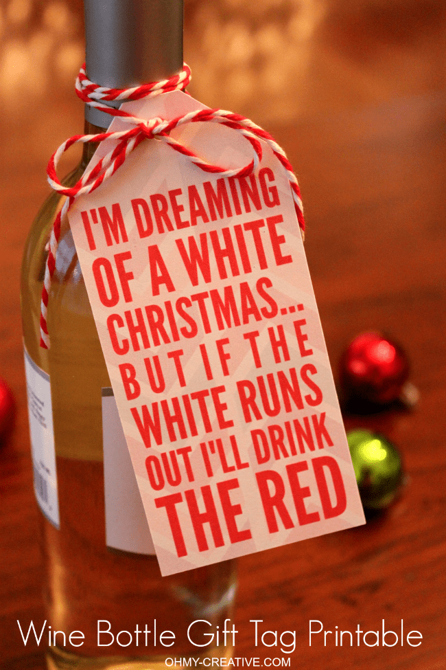 free printable wine bottle gift tag sure to bring a smile to the hostess