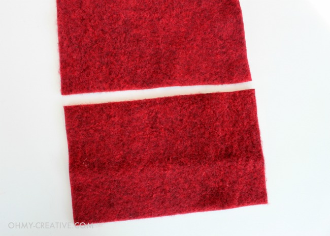 Red wool fabric for making Wool Heart Fingerless Gloves - Perfect for Valentine's Day   OHMY-CREATIVE.COM