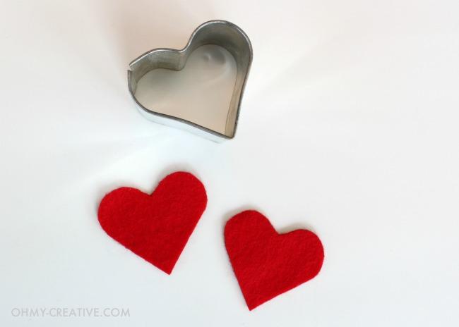 Red Felt Hearts