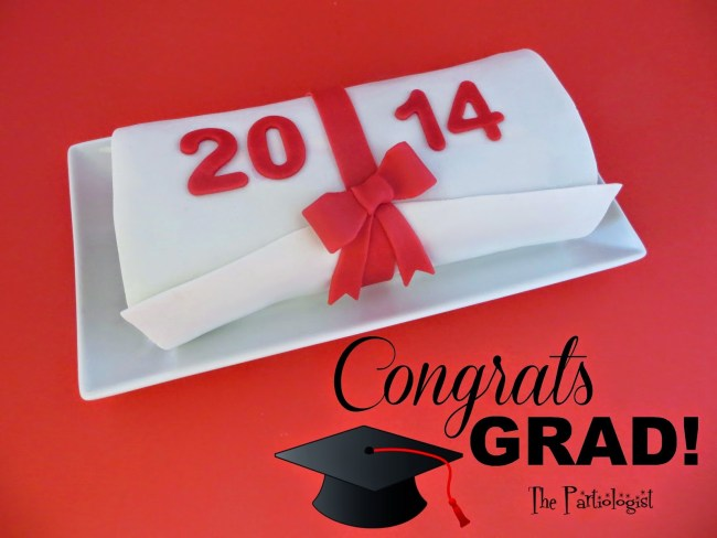 Graduation Party Diploma Cake