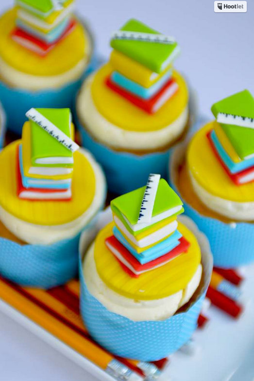 Graduation School Book Cupcakes