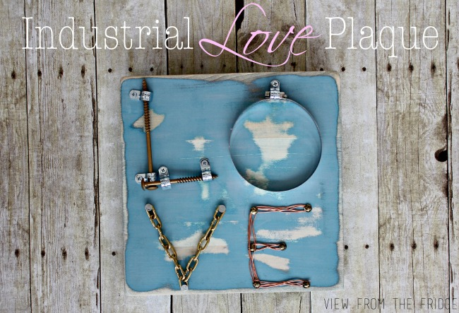 Industrial LOVE Plaque