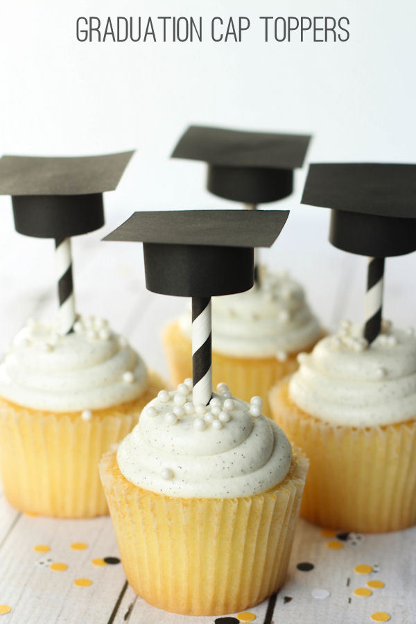 graduation toppers and straws