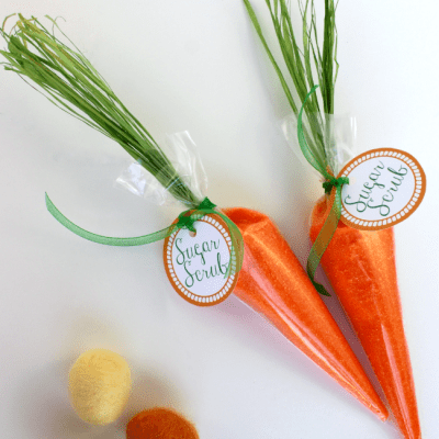 Carrot Sugar Scrub And Free Printable Tag