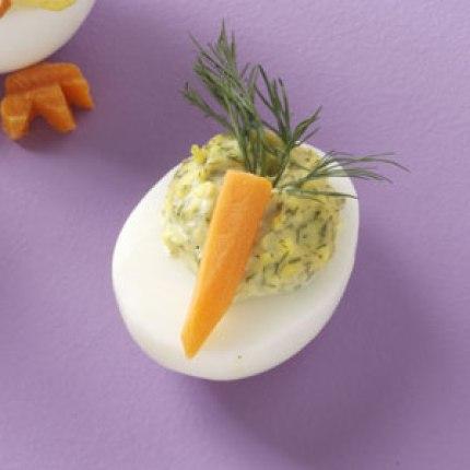 Easter Carrot Deviled Eggs