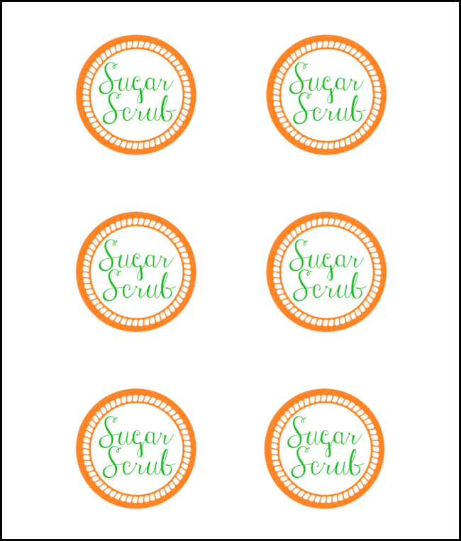 photo about Printable Sugar Scrub Labels identified as Carrot Sugar Scrub And Cost-free Printable Tag - Oh My Imaginative