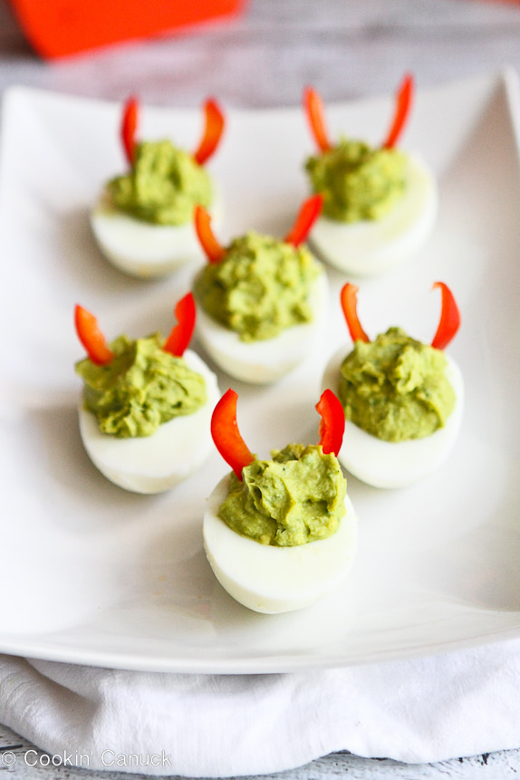 Halloween Devil Deviled Eggs