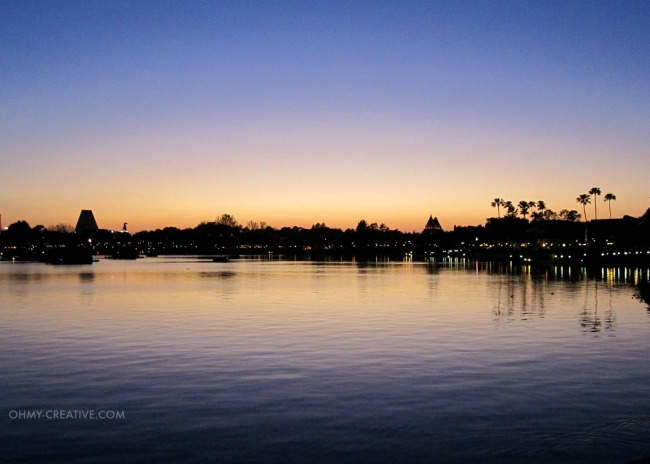 Epcot Lake in the Evening  |  OHMY-CREATIVE.COM
