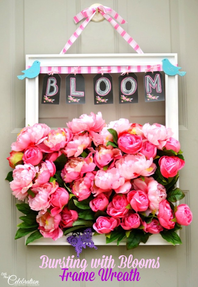 Bursting with Blooms Frame Wreath