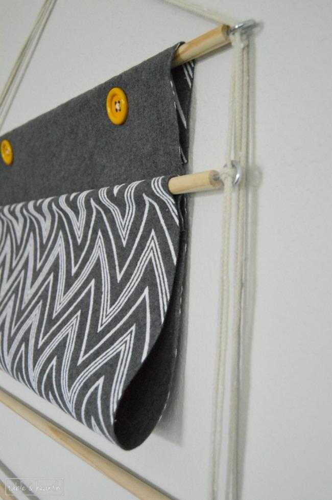 DIY hanging book holder tutorial  |  OHMY-CREATIVE.COM