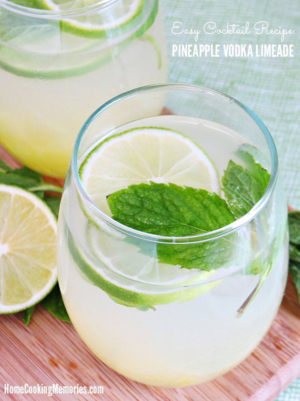 Easy Cocktail Recipe Pineapple Vodka Limeade Recipe
