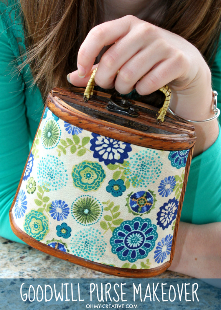 I love a DIY trash to treasure project like this Upcycled Goodwill Purse Makeover - a great Thrift Store Find! It was easy to create this fun fashion accessory with a few extra dollars! | OHMY-CREATIVE.COM