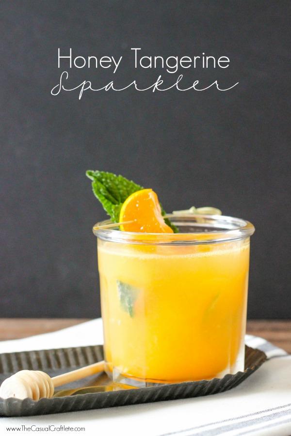 Honey Tangerine Sparkler a refreshing summer drink