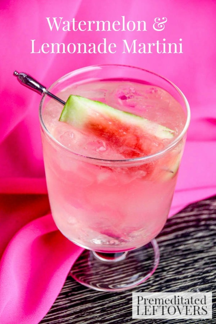 Watermelon Lemonade Martini