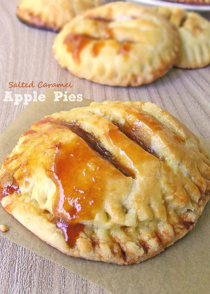 Individual Salted Caramel Apple Pies