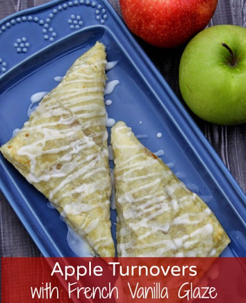 apple turnover recipe with vanilla glaze