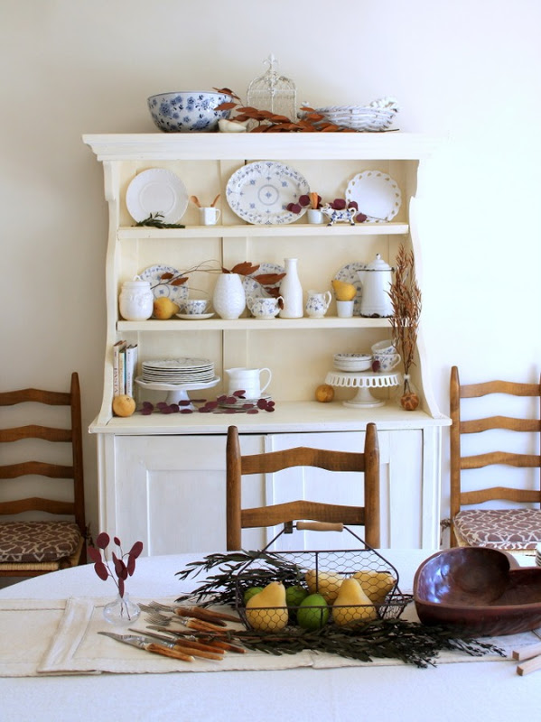 Blue and Natural Fall Hutch via homework - carolynshomwork