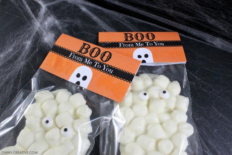 Chocolate Marshmallow Ghost Treats