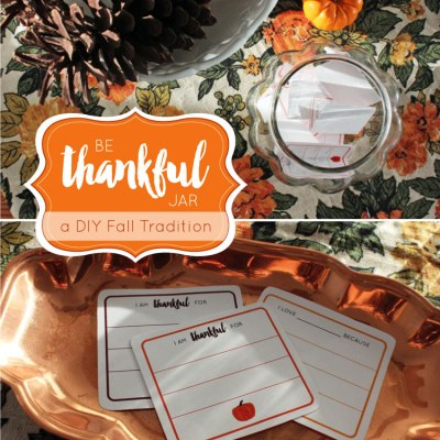 DIY Be Thankful Jar Printable Cards