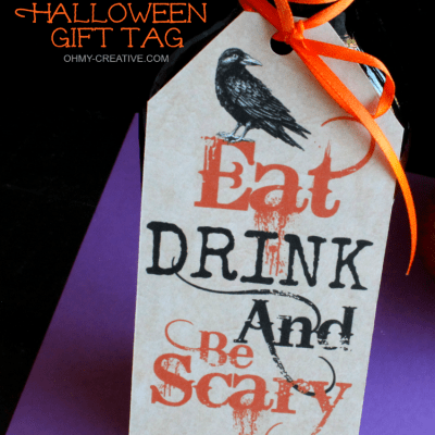 Eat Drink and Be Scary Free Printable Halloween Gift Tag