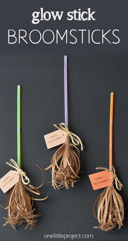 Glow Stick Halloween Witch Broom Sticks
