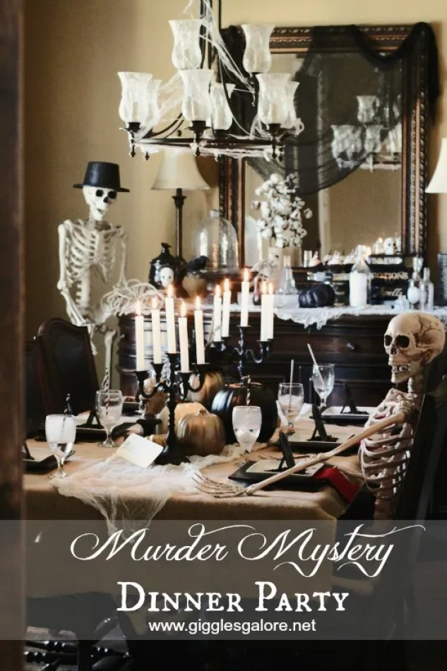 Murder Mystery Halloween Dinner Party Giggles Galore