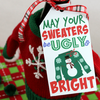 Ugly Sweater Gift Tag Printable