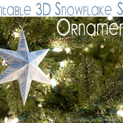 Printable 3D Snowflake Star Ornaments
