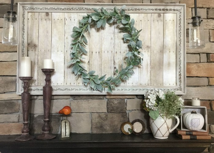Wreath with Repurposed Frame