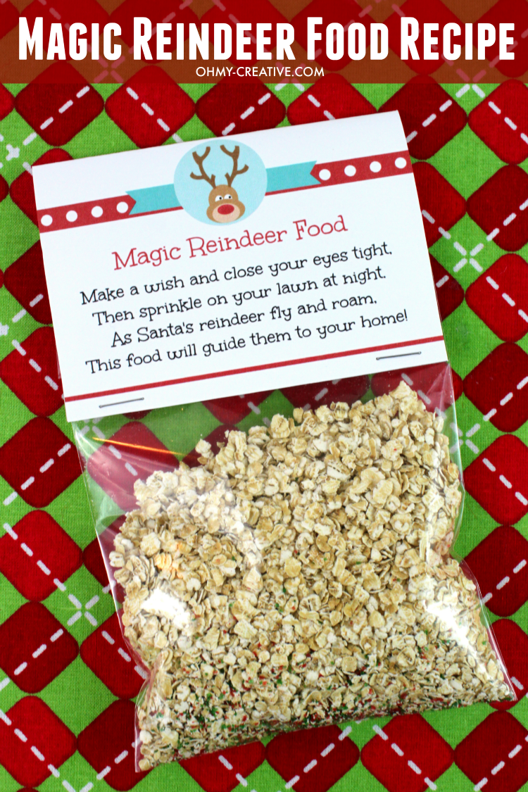 Magic Reindeer Food Recipe and Printable - Oh My Creative