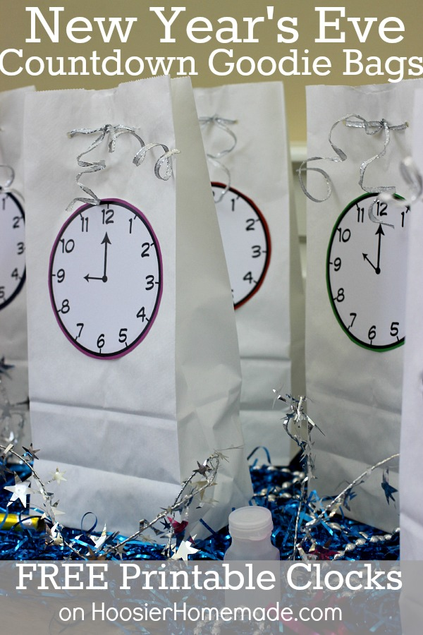 New Year's Eve Printable Countdown Bags
