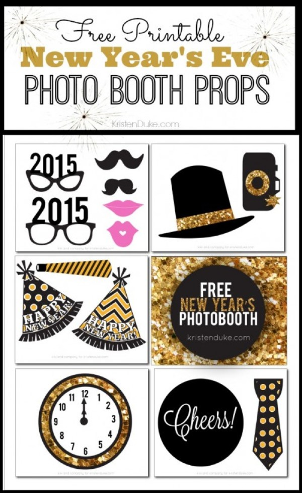 New Year's Eve Photo Booth Printables