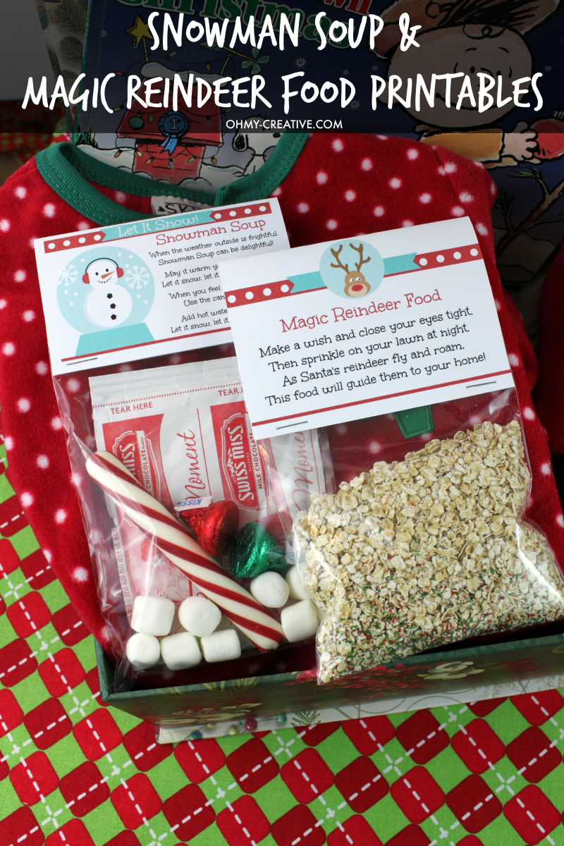 graphic regarding Snowman Soup Free Printable Bag Toppers named Xmas Printable Package deal - Oh My Inventive
