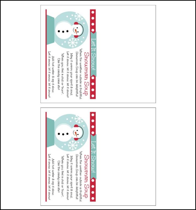 photo regarding Snowman Soup Free Printable titled Snowman Soup Present Recipe - Oh My Artistic
