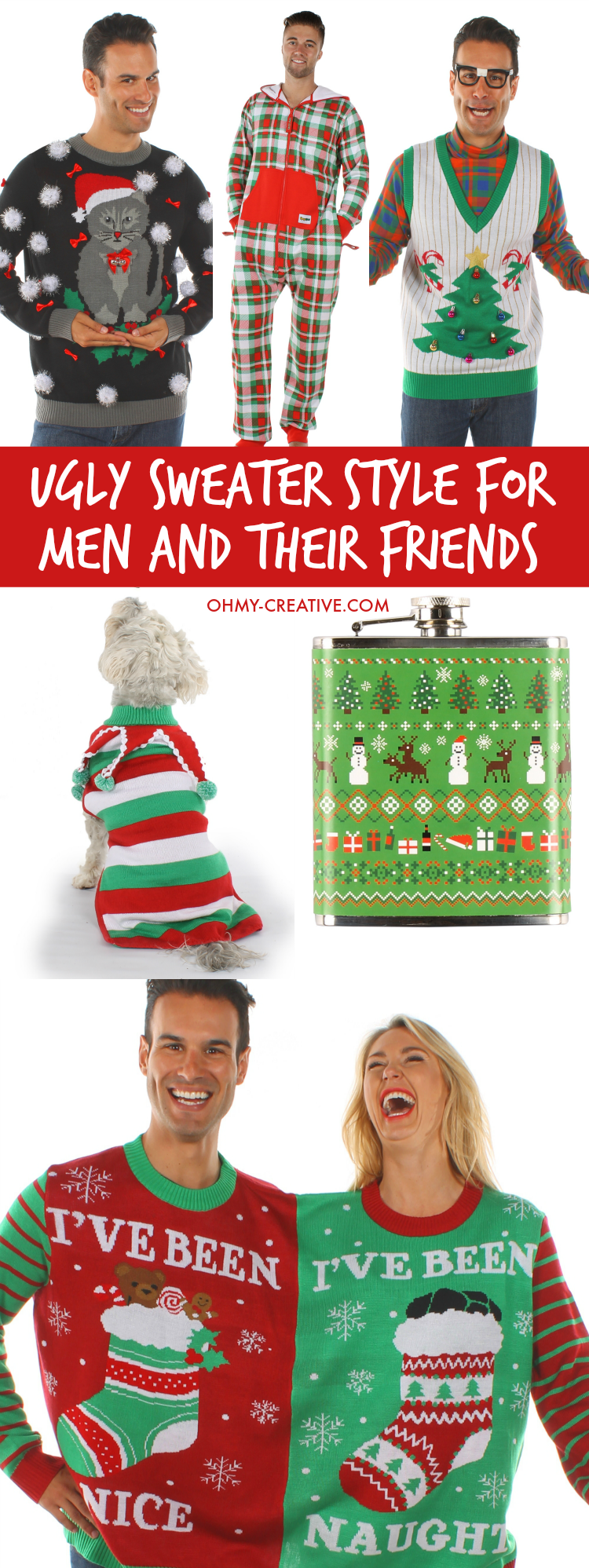 ugly christmas sweater style for men and their friends be hot hip and hilarious - How To Decorate A Ugly Christmas Sweater