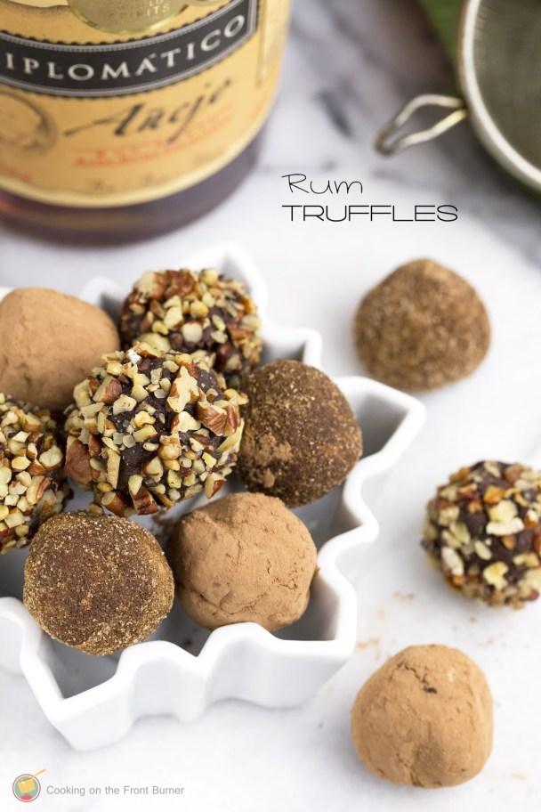 chocolate rum truffles