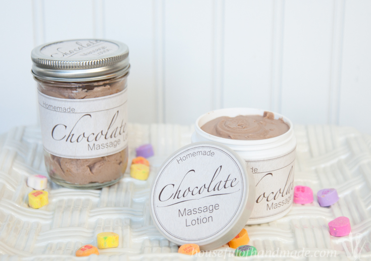 Celebrate Valentine's Day with your sweetheart with homemade chocolate massage lotion. Smells good enough to eat! |OHMY-CREATIVE.COM