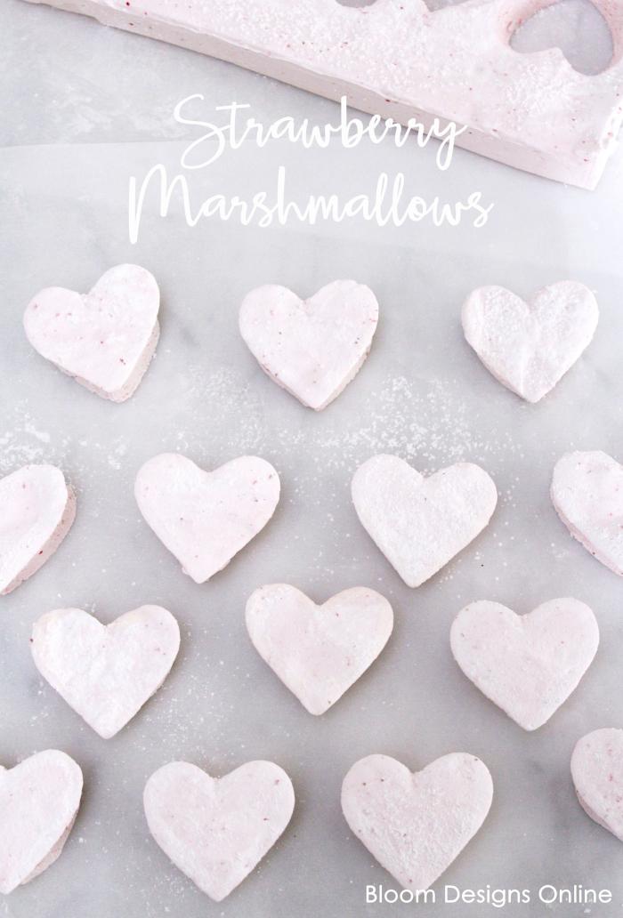 Homemade Strawberry Marshmallows