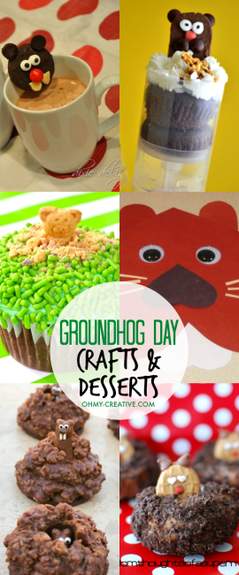 Groundhog Day Crafts And Desserts Oh My Creative