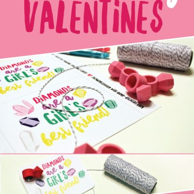 DIY Diamond Ring Valentines
