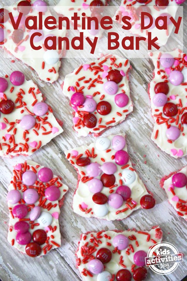 Valentines Day Candy Bark