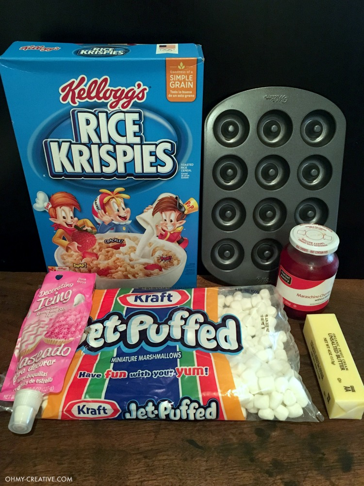Ingredients for Valentine's Day Recipe For Rice Krispie Treat Sandwiches | OHMY-CREATIVE.COM