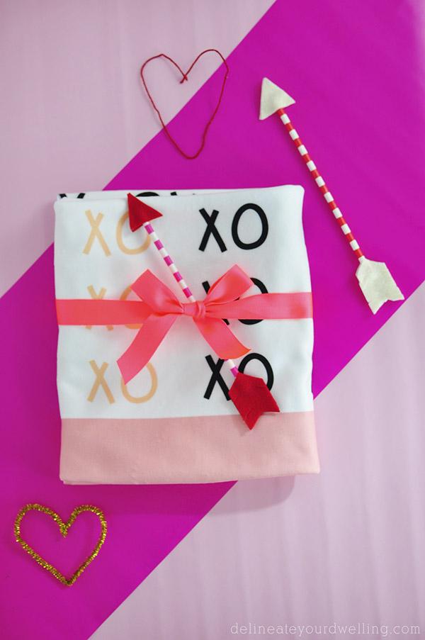 Custom Printed Valentines XO Blanket