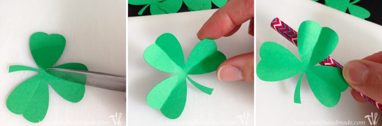 Make a beautiful shadow box full of clovers for a fun St. Patrick's Day shadow box decor idea. See if you can find the one 4 leaf clover in the bunch. | OhMy-Creative.com