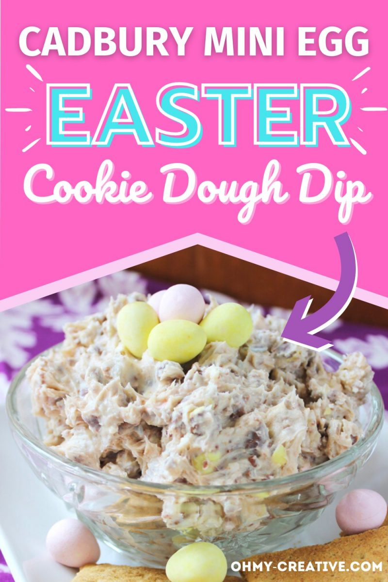 Cadbury Mini Egg Cookie Dough Dip For Easter