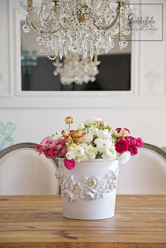 Repurposed florist bucket diy