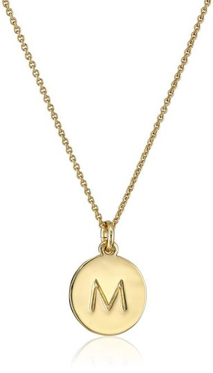 "Kate Spade New York Gold-Tone Alphabet Pendant Necklace 18"" - Senior Graduation Gifts for Her 