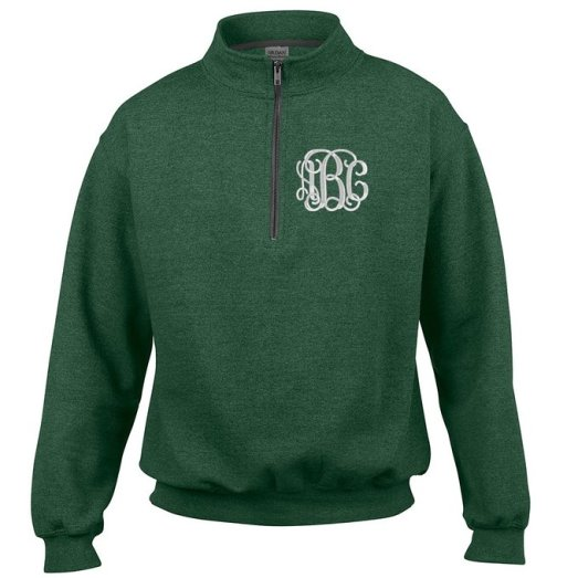 Monogrammed Quarter Zip Sweatshirt - Graduation Gifts for Her | OHMY-CREATIVE.COM