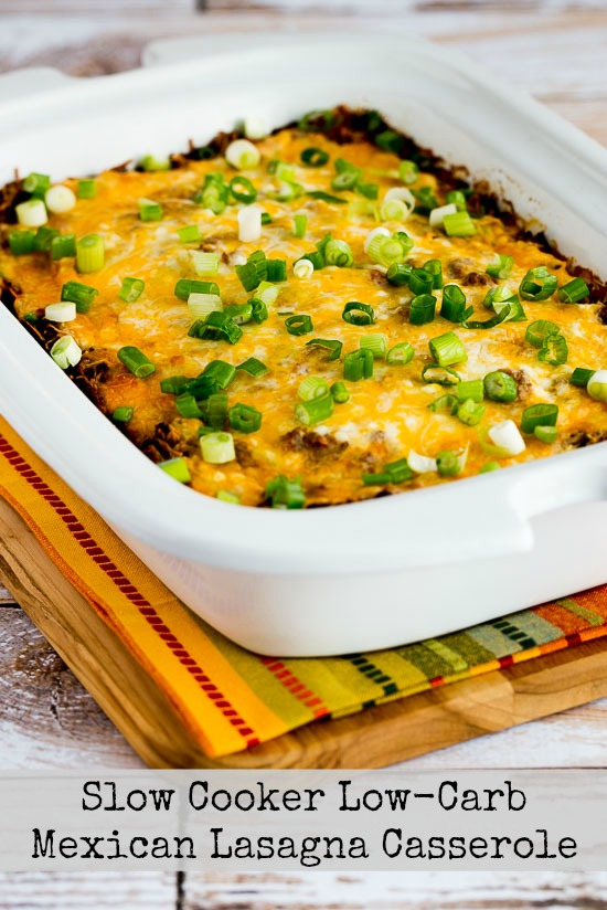 Slow Cooker Low-Carb Mexican Lasagna Casserole kalynskitchen